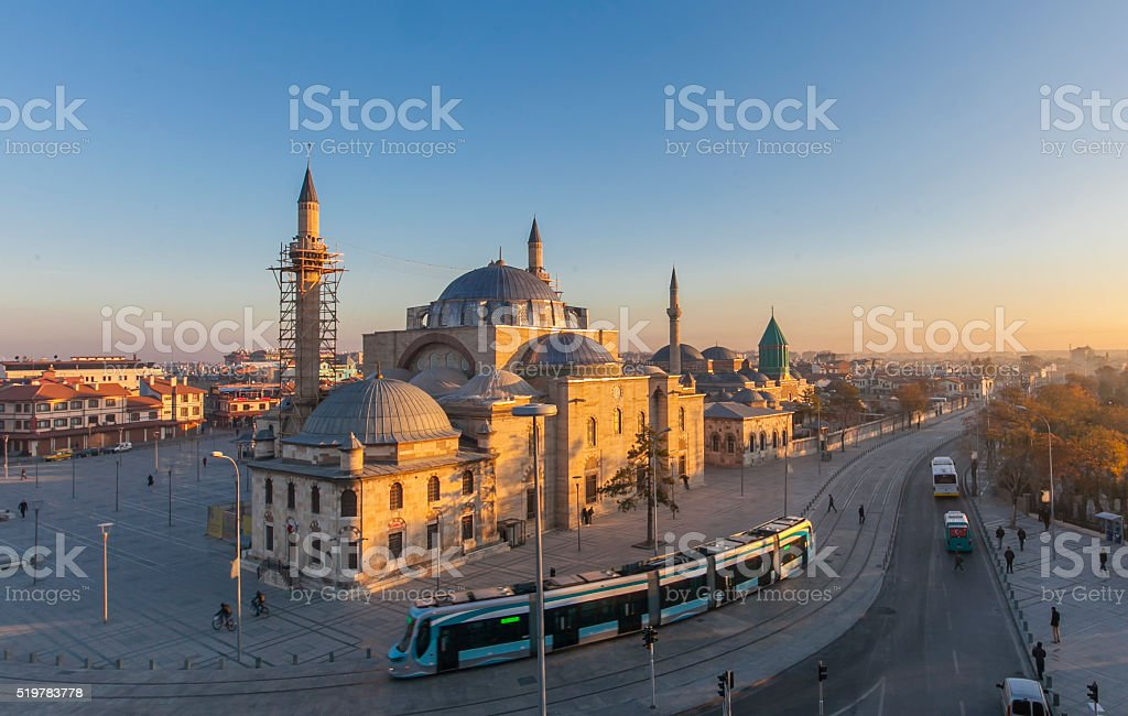 Images from the Mevlana in Konya stock photo