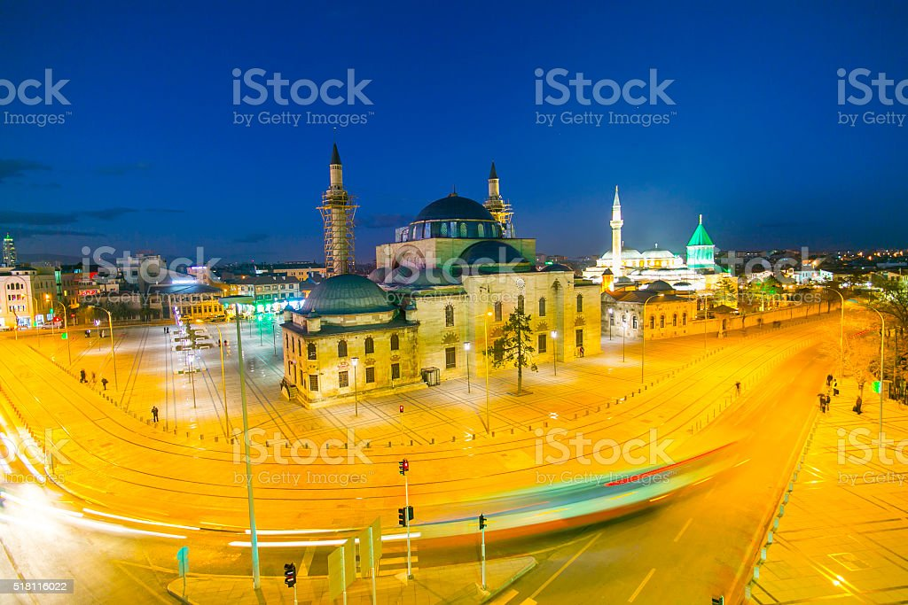 Images from the Mevlana Museum in Konya stock photo