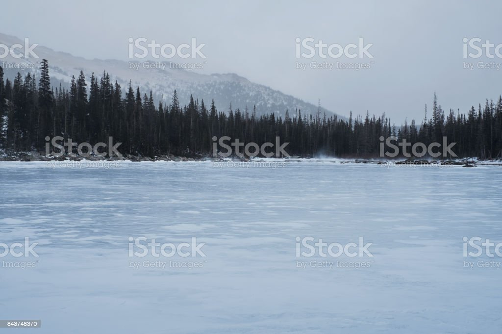 Images of Rocky Mountain National Park Taken in November and December on Cloudy Days stock photo