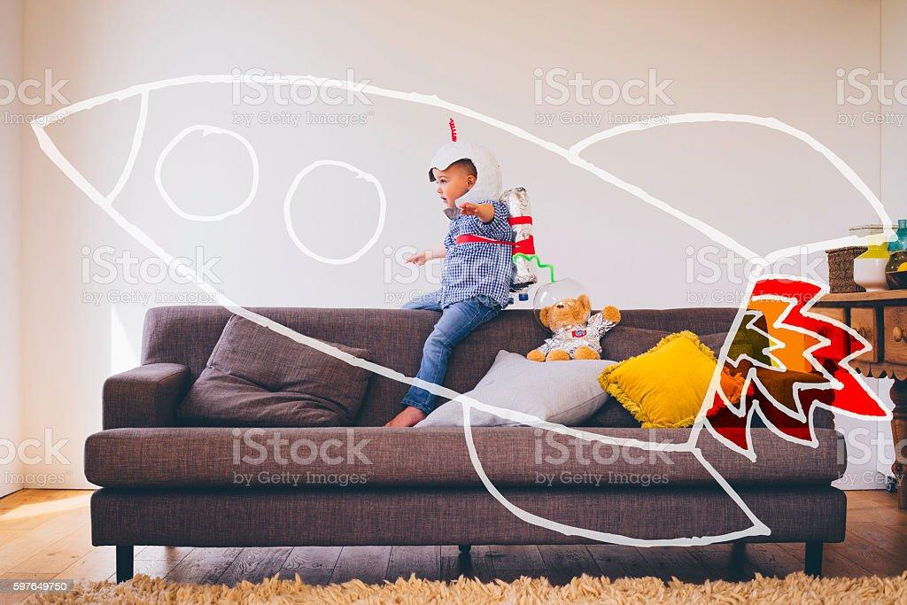 Imaginative Playtime stock photo