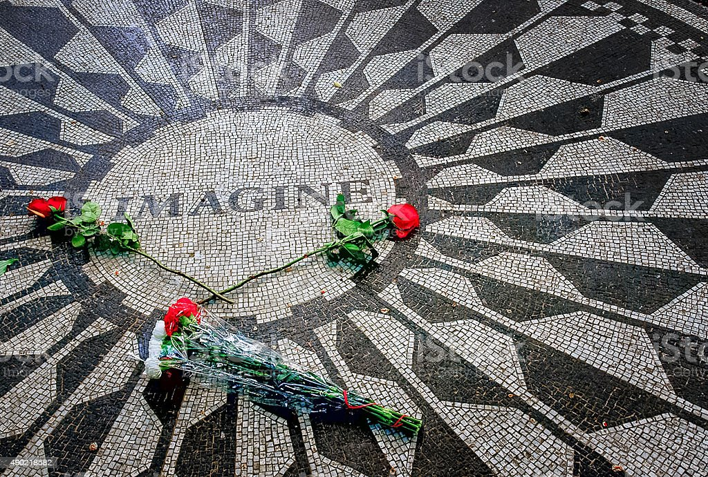 Imagine Memorial in Strawberry Fields stock photo
