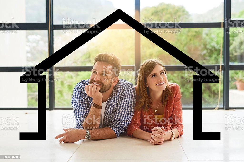 Imagine owning our dream house... stock photo