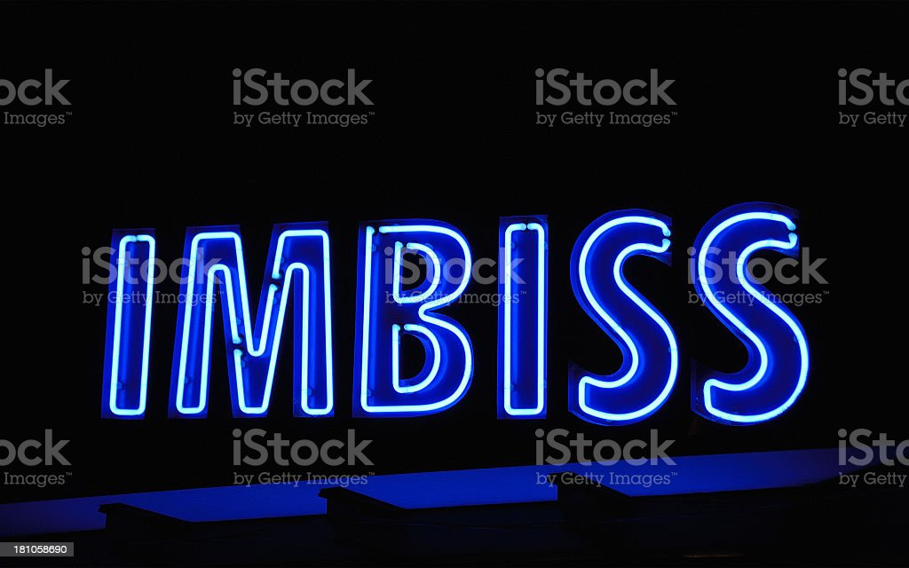 'Imbiss' calles for typical Austrian Fastfoot royalty-free stock photo