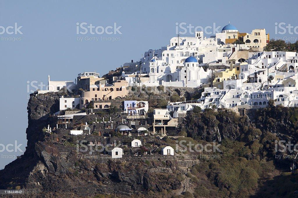 Imerovigli on Santorini in the Cyclades, Greece royalty-free stock photo