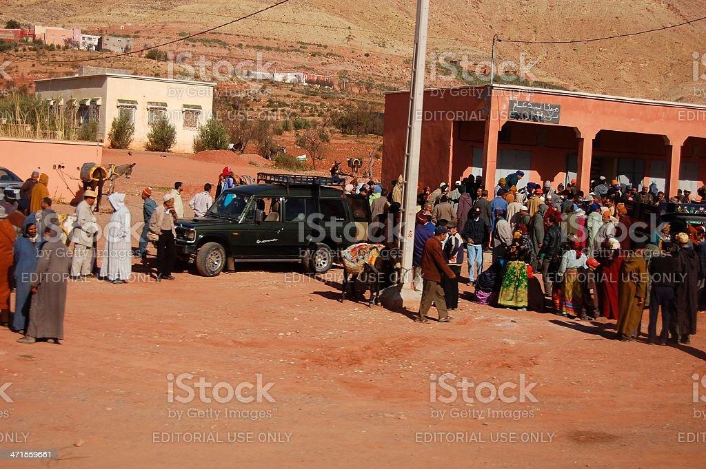 Imi-N-Tanoute town, Morocco stock photo