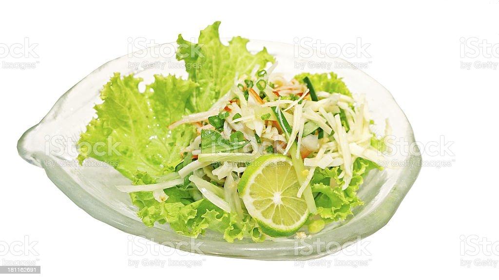 Imitation Crab salad royalty-free stock photo