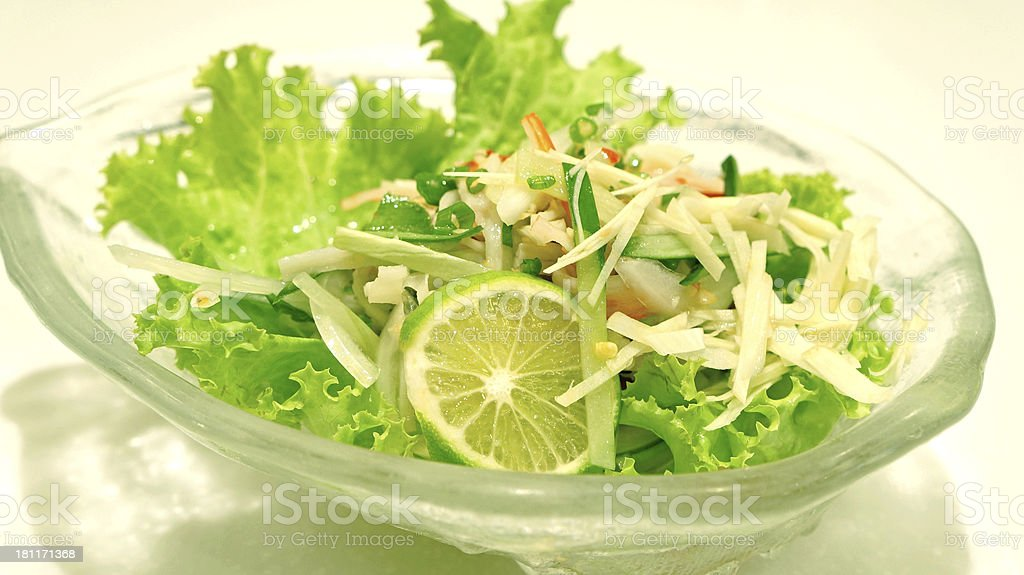 Imitation Crab salad royalty-free stock photo