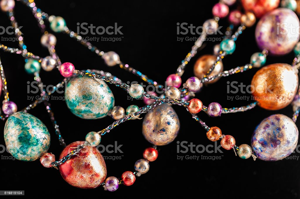 imitation jewelry beads closeup stock photo