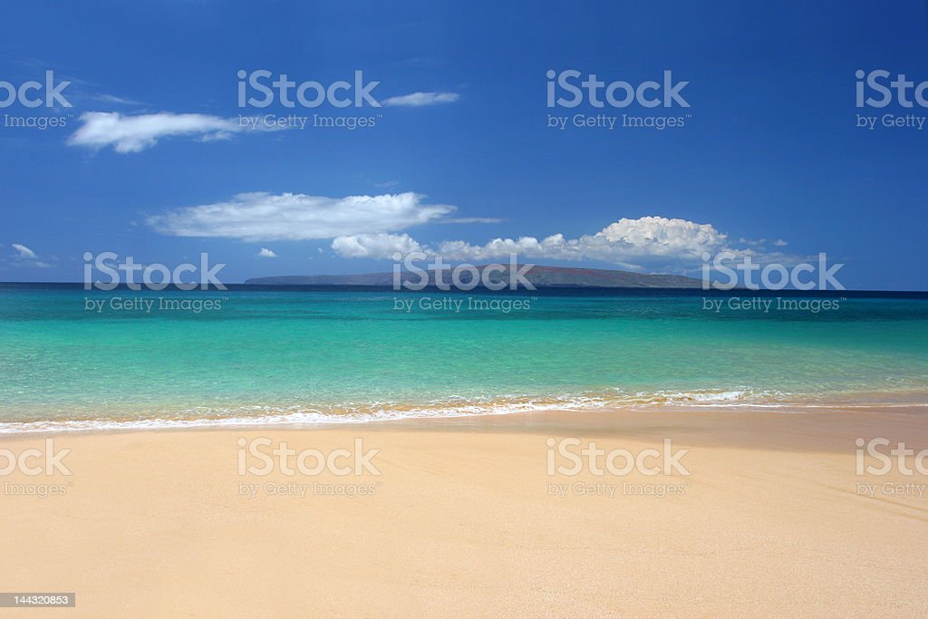 Immaculate tropical beach royalty-free stock photo