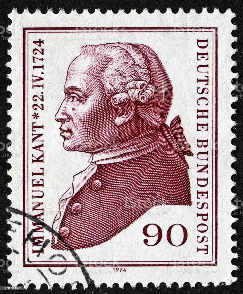 Immanuel Kant Stamp stock photo