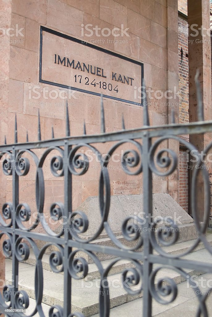 Immanuel Kant, tomb stock photo