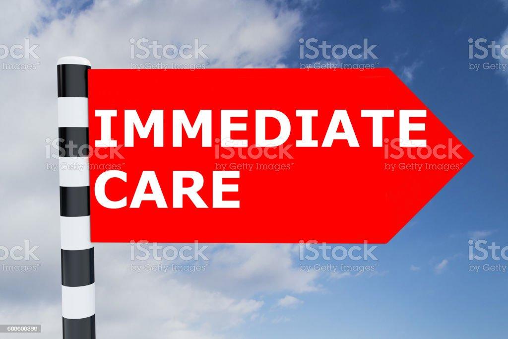 Immediate Care concept stock photo