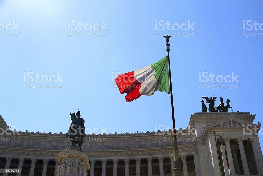 immense white monument  called Vittoriano 2 stock photo