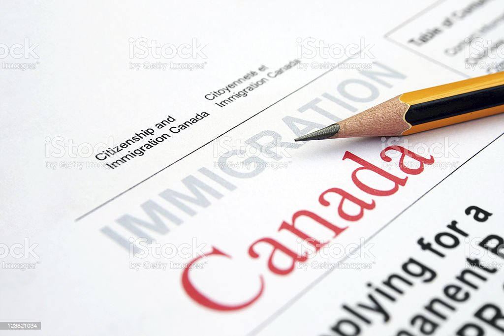 Immigration Canada royalty-free stock photo