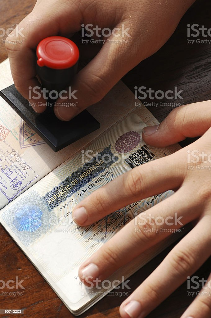 Immigration control royalty-free stock photo