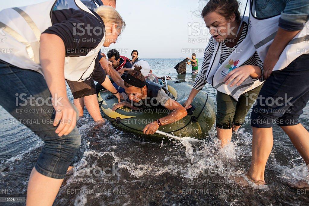 Immigration crisis stock photo