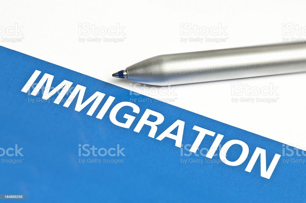 Immigration Form royalty-free stock photo