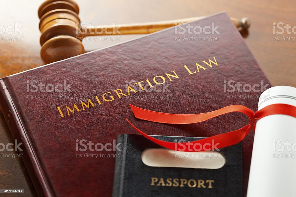 Immigration Law Court stock photo