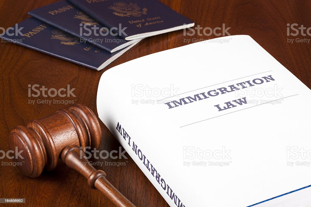 Immigration law royalty-free stock photo
