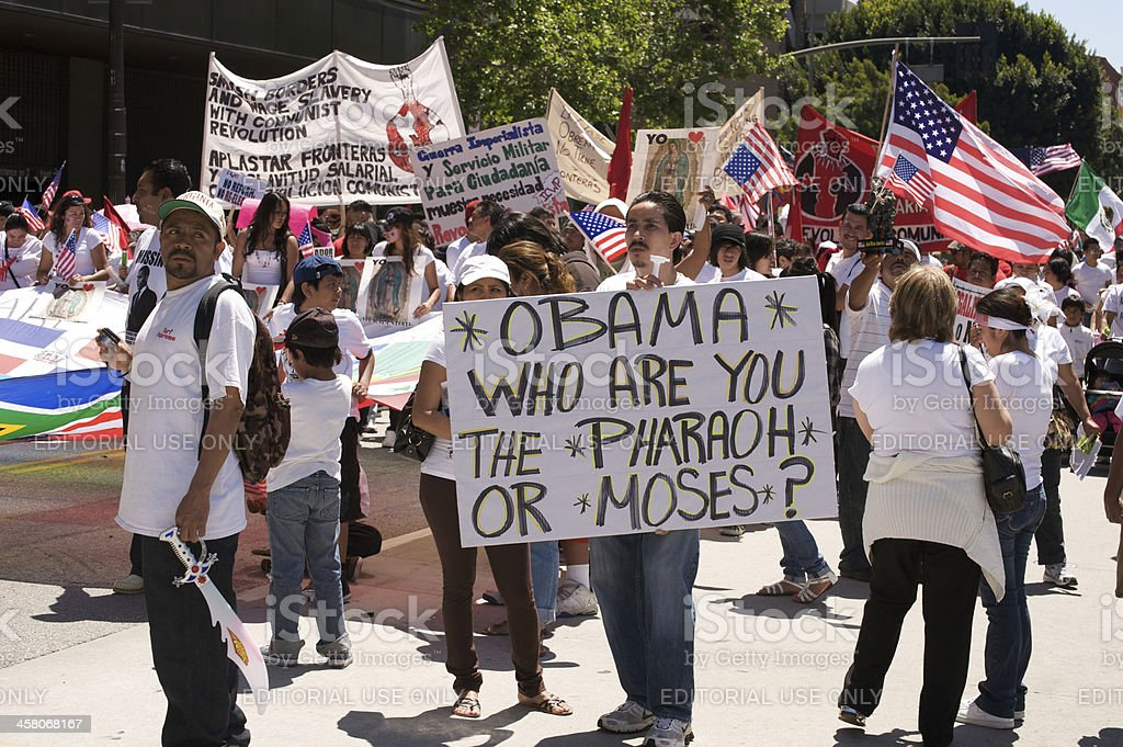 Immigration march in Los Angeles royalty-free stock photo