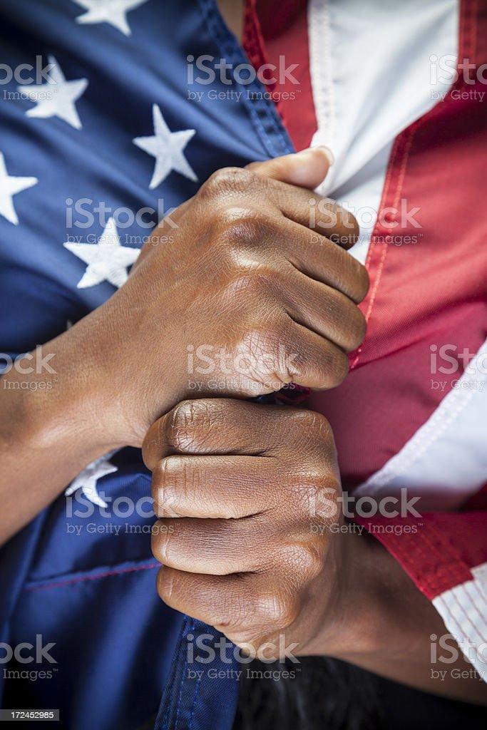 Immigration, Patriotism. royalty-free stock photo