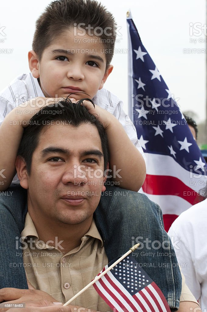 Immigration Rally in Washington stock photo