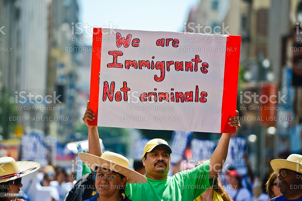 Immigration Reform March, May Day, Los Angeles, stock photo