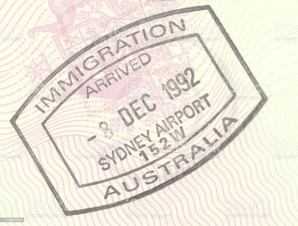 Immigration to Australia royalty-free stock photo