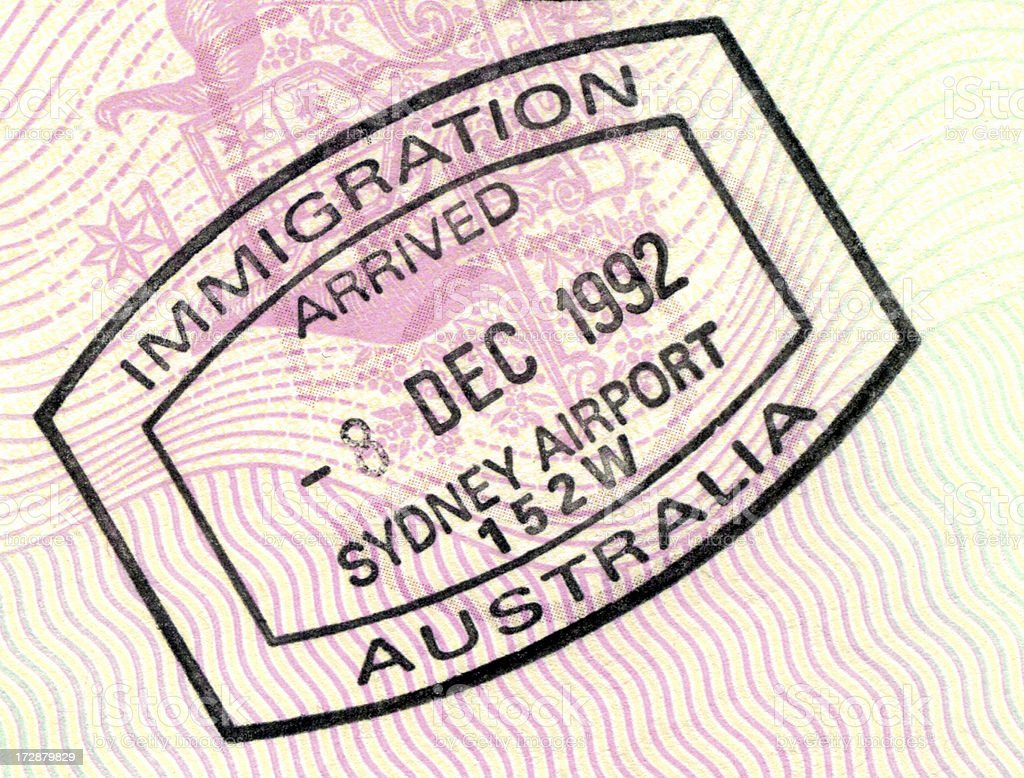 Immigration to Australia stock photo