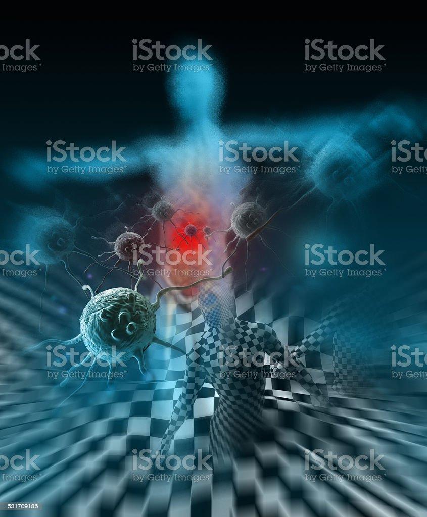 Immunity Against Diseases 3d rendering stock photo