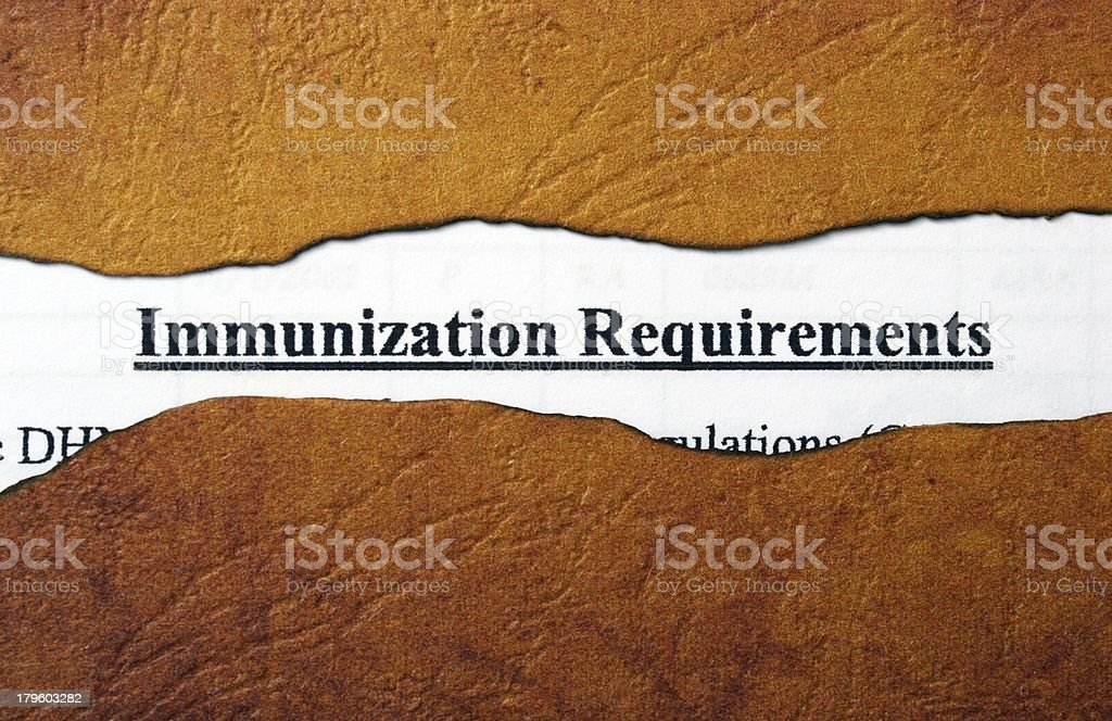 Immunization royalty-free stock photo