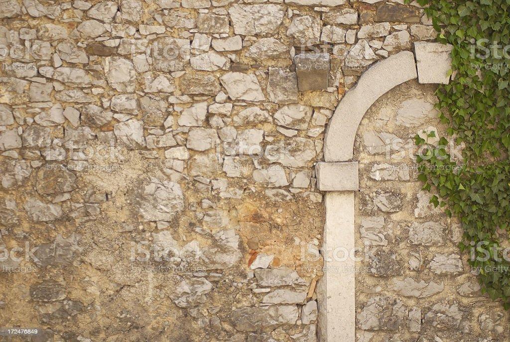 Immured Castle Door stock photo