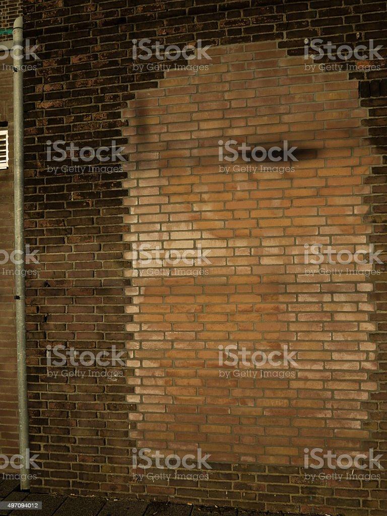 Immured door in a brickwork wall stock photo