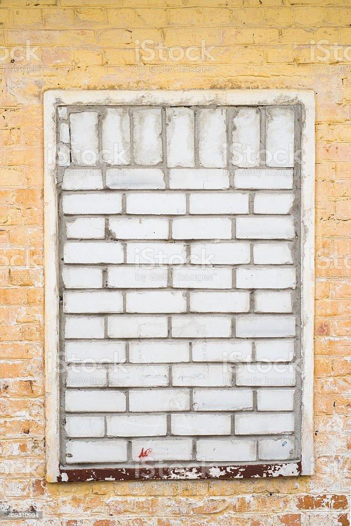 Immured window stock photo
