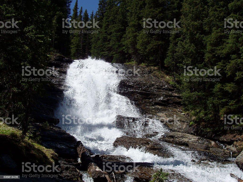 Imogene Trail Waterfall stock photo