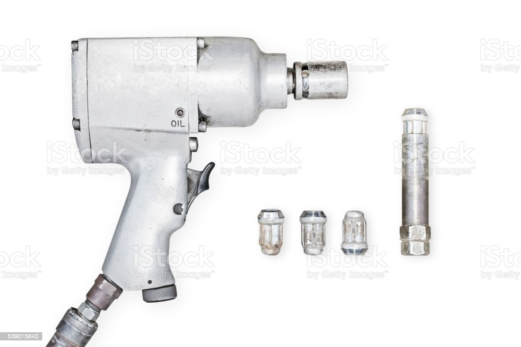 Impact air wrench stock photo