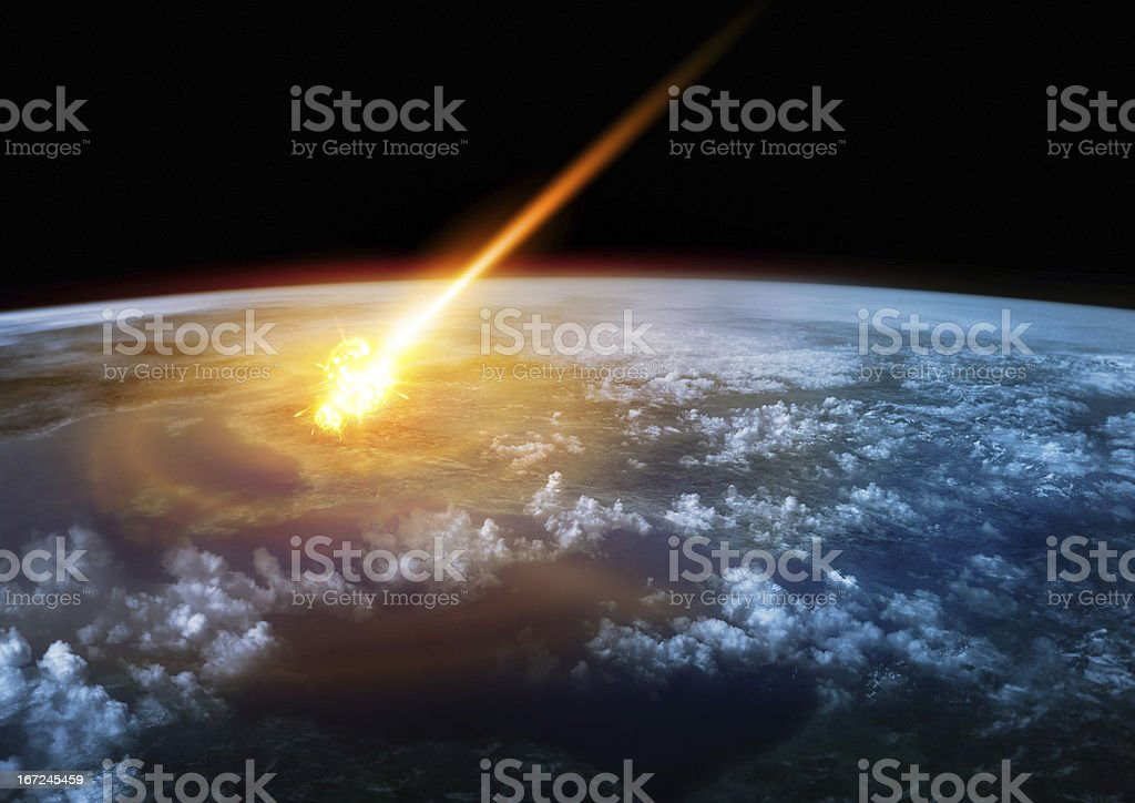 Impact Earth stock photo