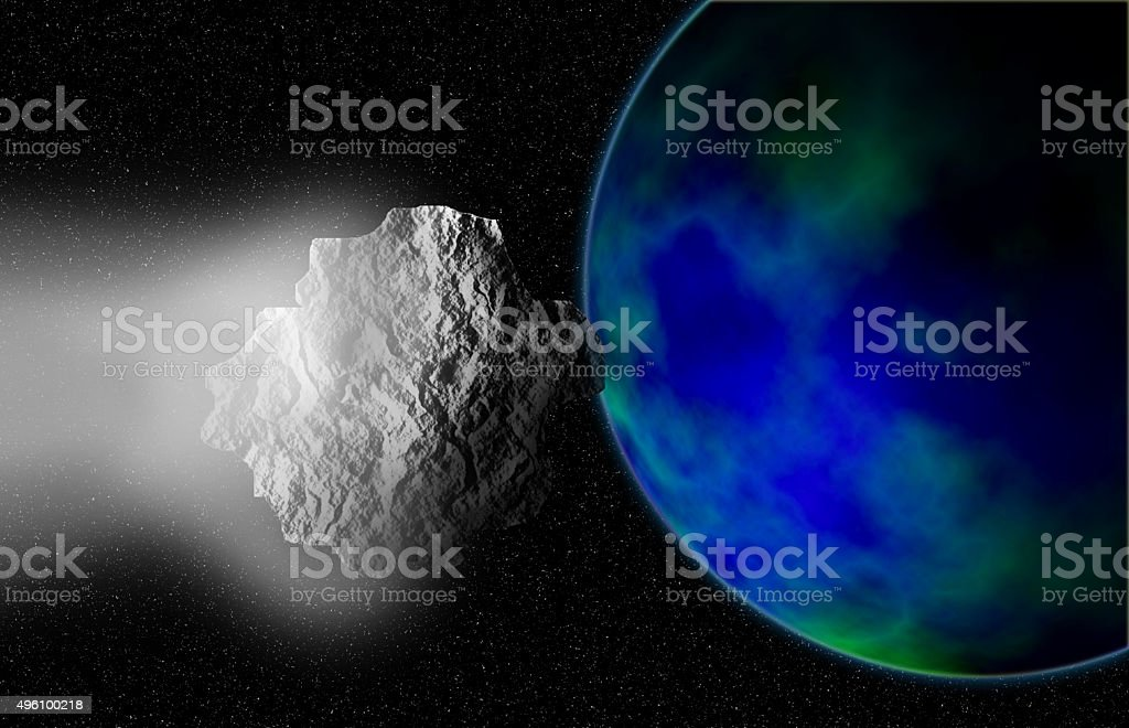 impact earth. stock photo