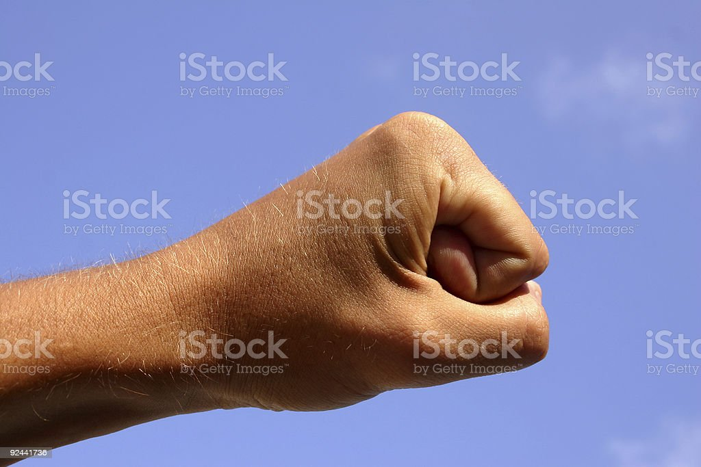 Impact Fist royalty-free stock photo