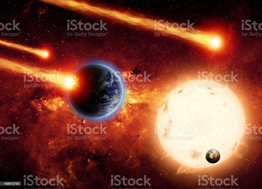 Impact from space stock photo