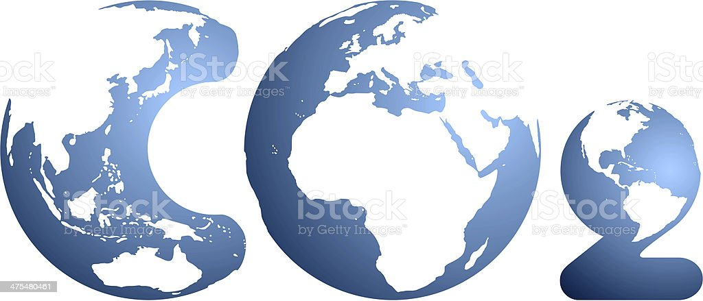 CO2 impact on Earth royalty-free stock photo