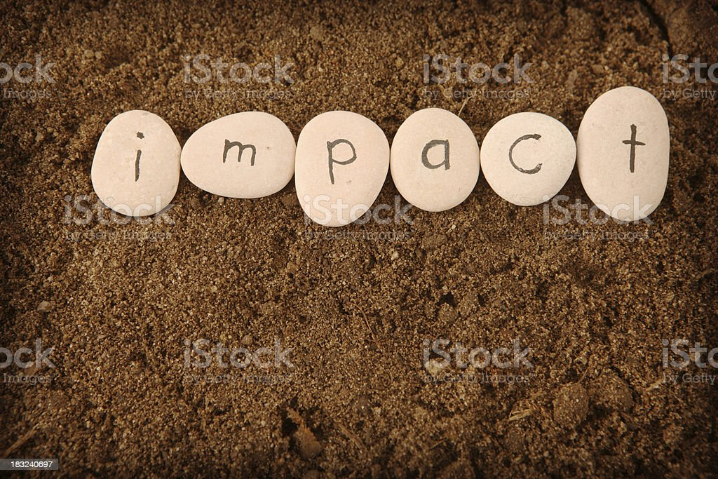 Impact royalty-free stock photo