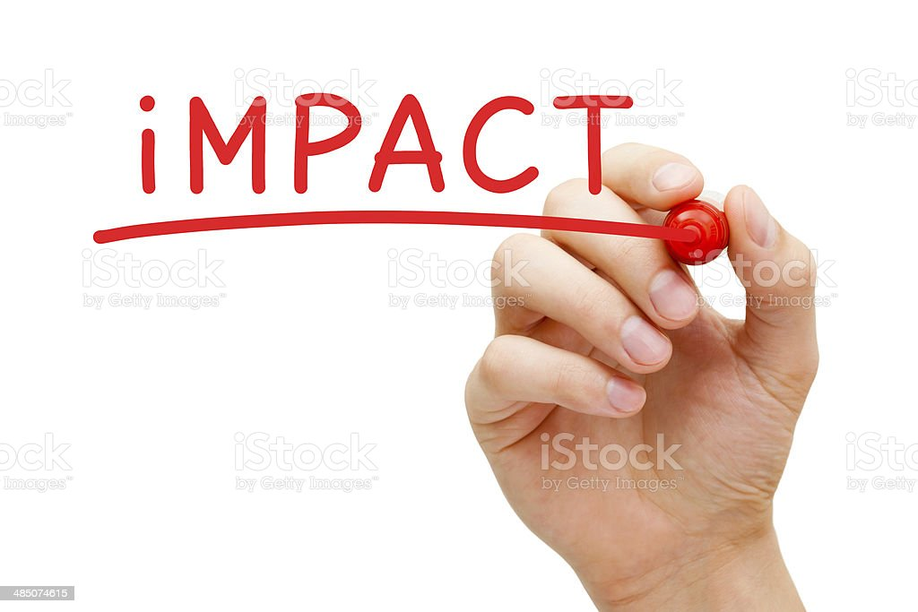 Impact Red Marker stock photo