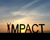 Impact success silhouette