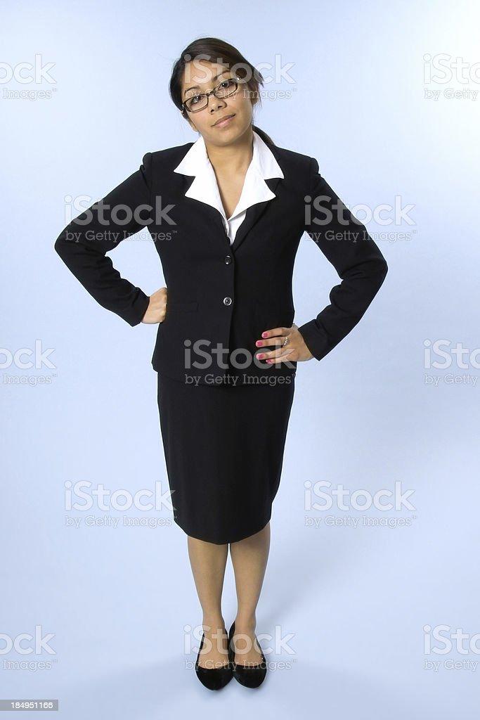 Impatient Businesswoman royalty-free stock photo