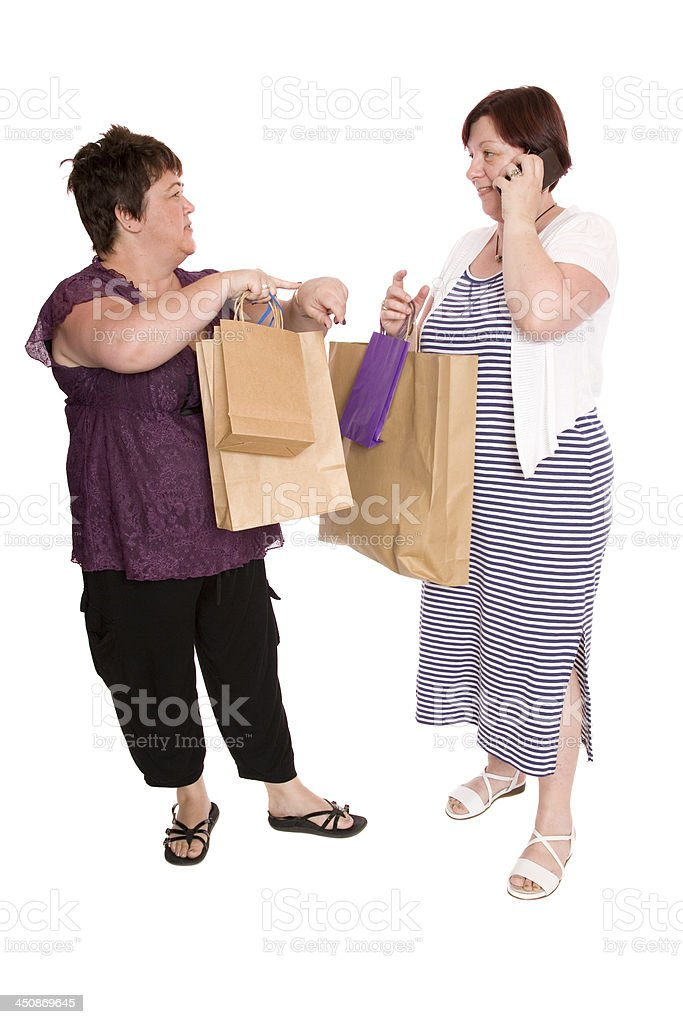Impatient Shopper stock photo