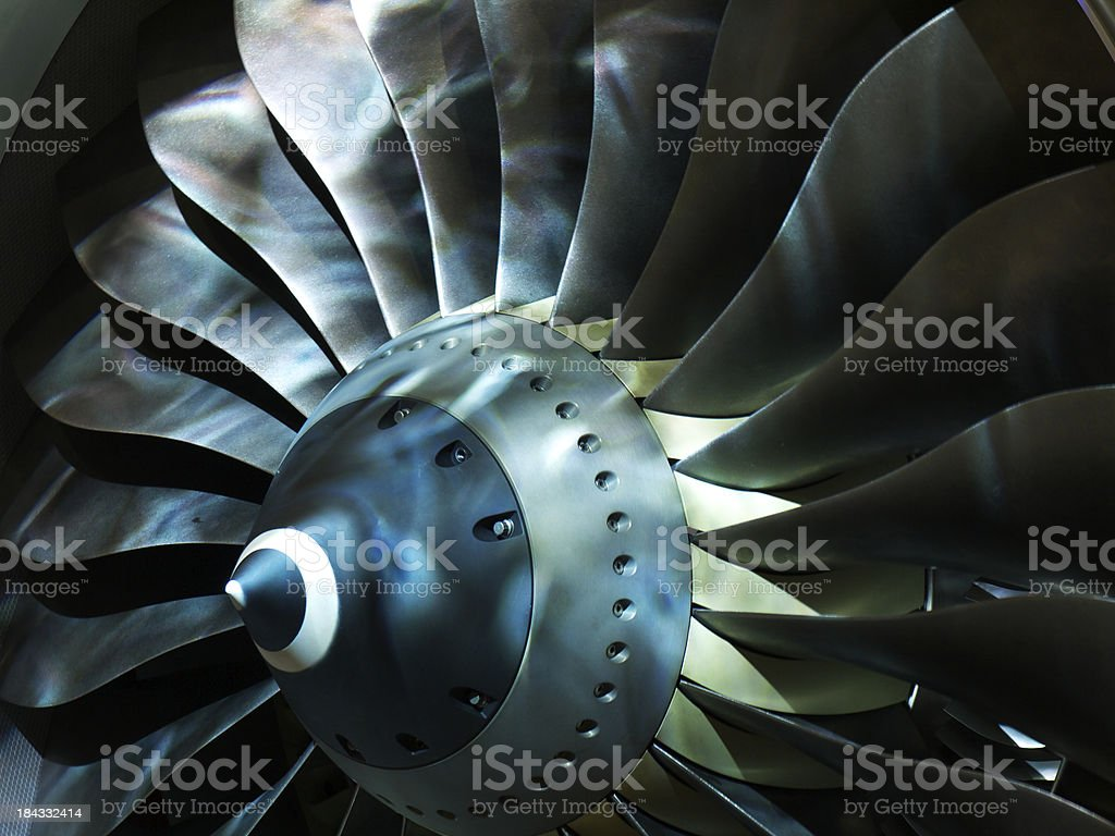 Impeller turbine stock photo