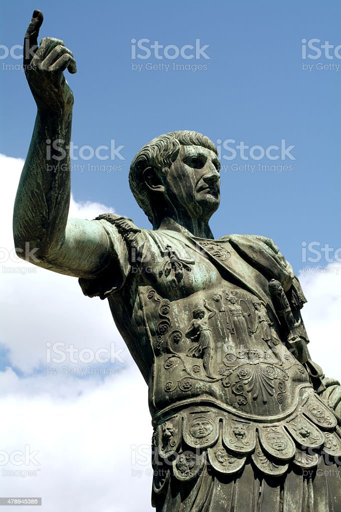 Imperator in Rome stock photo