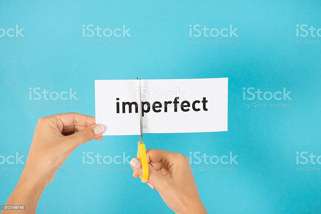 Imperfect To Perfect stock photo