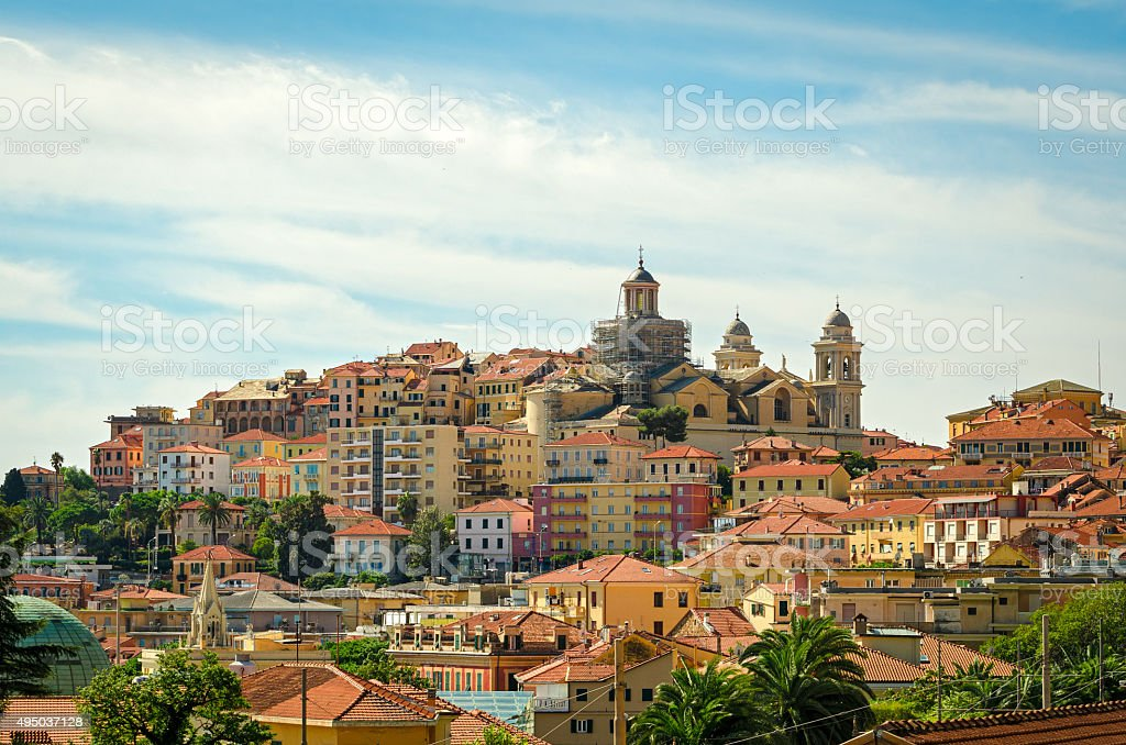 Imperia Porto Maurizio (Liguria, Italy) stock photo